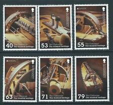 GUERNSEY 2014 EUROPA MUSICAL INSTRUMENTS SET OF 6 FINE USED
