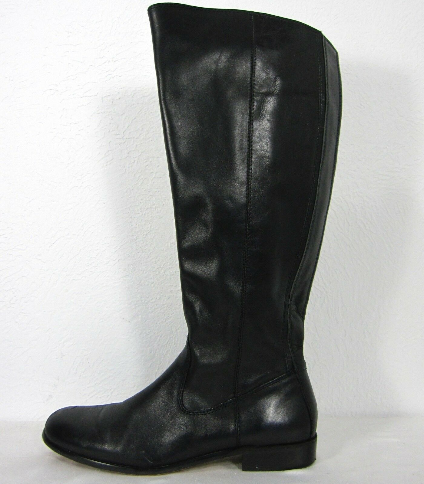 KENNTH COLE NEU YORK UPPER LEATHER TALL FULL ZIP BOOTS SIZE 7.5 (US)  BLACK