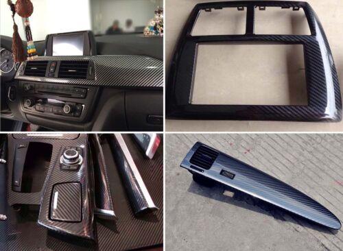 Top Premium 3D Gloss Black Carbon Fiber Vinyl Wrap Bubble Free Air Release