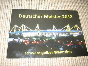 3 Postkarten BVB 09 Deutscher Meister 2012 Fankarte Dortmund - Deutschland - 3 Postkarten BVB 09 Deutscher Meister 2012 Fankarte Dortmund - Deutschland
