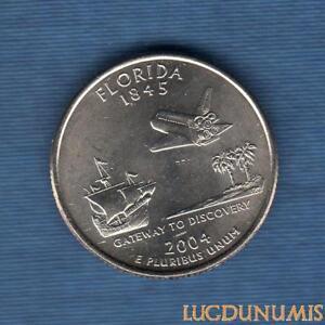 Etats-Unis-Quarter-Dollar-2004-D-Florida-serie-des-Etats-Neuve-Rouleau