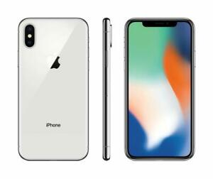 Apple-iPhone-X-64-Go-argent-Verizon-T-Mobile-AT-amp-T-GSM-Debloque-Smartphone