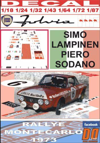 05 DECAL LANCIA FULVIA HF SIMO LAMPINEN RALLYE MONTECARLO 1973 DnF