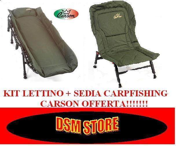 KIT COMBO LETTINO 6 GAMBE + SEDIA CARPFISHING CARSON BOILIE OFFERTA CARP FISHING