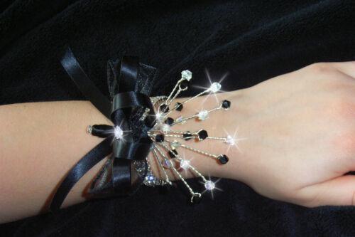 Crystal wrist corsage