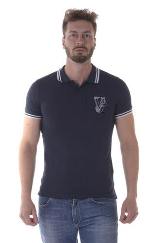 Versace Jeans Poloshirt SLIM Baumwolle Herren Blau B3GOA7P1 231