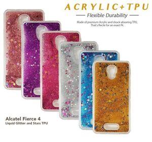huge discount 1aa43 13fca Details about ALCATEL FIERCE 4 FLOW GLITTER LIQUID BLING STARS FULL TPU  LUXURY CASE METRO PCS