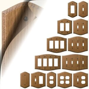 Country Oak Switch Plate Wood Medium Stain Wallplate Toggle Outlet Rocker Gfi Ebay