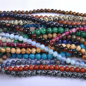 8MM-20pcs-Wholesale-Lots-Natural-Gemstone-Round-Spacer-Loose-Beads-DIY-Stones
