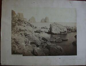 Charmant Vintage Albumen Print Capri / Sommer & Behles / Xixème Siècle Ture 100% Garantie