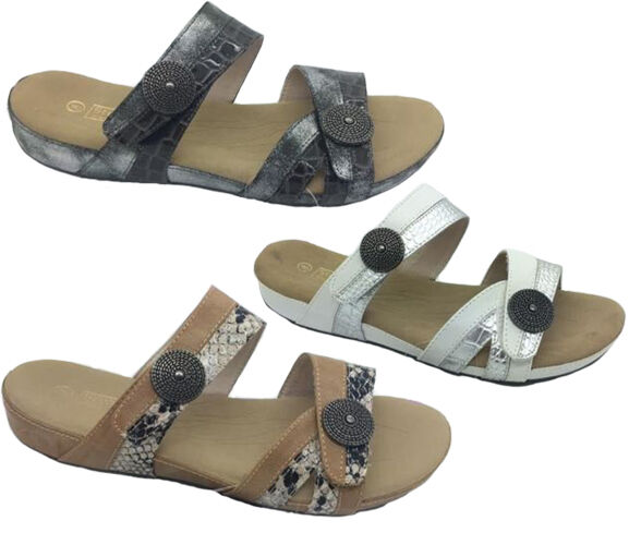 Ladies shoes Step On Air Rita Slides Comfort Sandals Size 6-11 Slip On