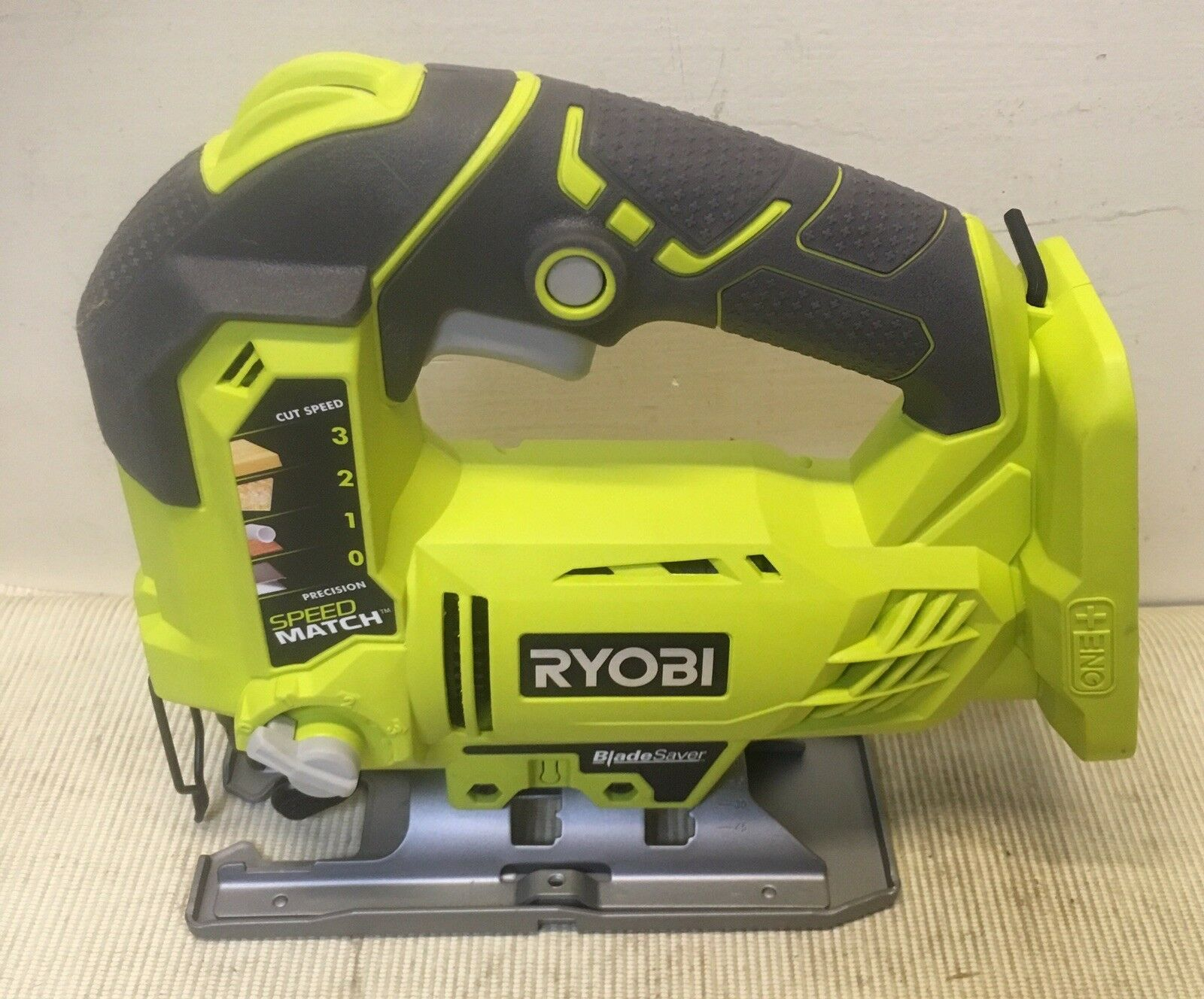 Ryobi Cordless P5231 18-Volt ONE+ Orbital Jig Saw (Includes Wood Blade & Manual)