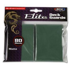 1-Pack-80-BCW-Elite-Deck-Guard-MATTE-GREEN-MTG-Pokemon-Gaming-Card-Sleeves