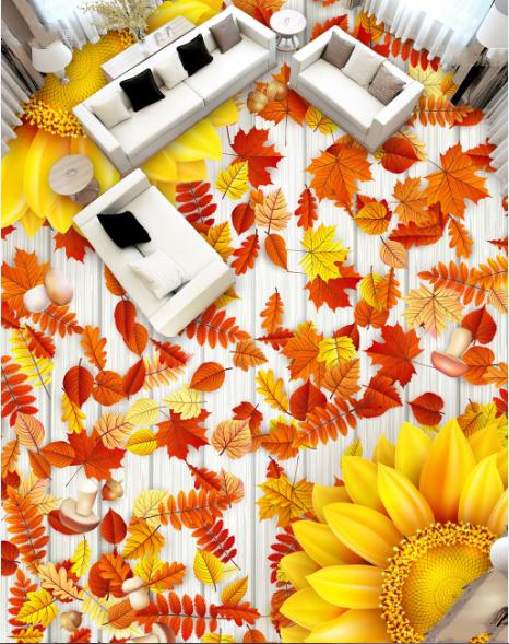 3D Ahornblatt 522 Fototapeten Wandbild Fototapete Tapete Familie DE Lemon