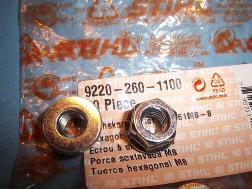 Nouveau STIHL M8 Bar Noix 92202601100 Original Equipment Manufacturer Livraison Gratuite 2 Pack