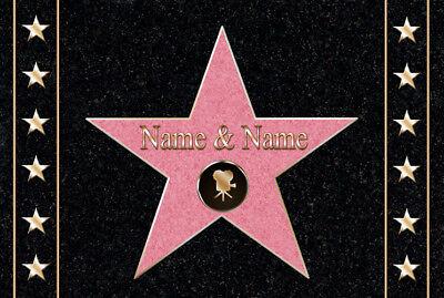 Persönliche Fußmatte WALK OF FAME Fußabstreifer Schmutzfangmatte Stern Hollywood