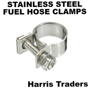 MINI-FUEL-LINE-STAINLESS-STEEL-JUBILEE-HOSE-CLIP-CLAMP-DIESEL-PETROL-PIPE-clamps