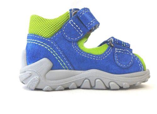 Superfit Jungen Sandalen grün blau Größe 19 20 FLOW 2-00011-85 Echtes Leder