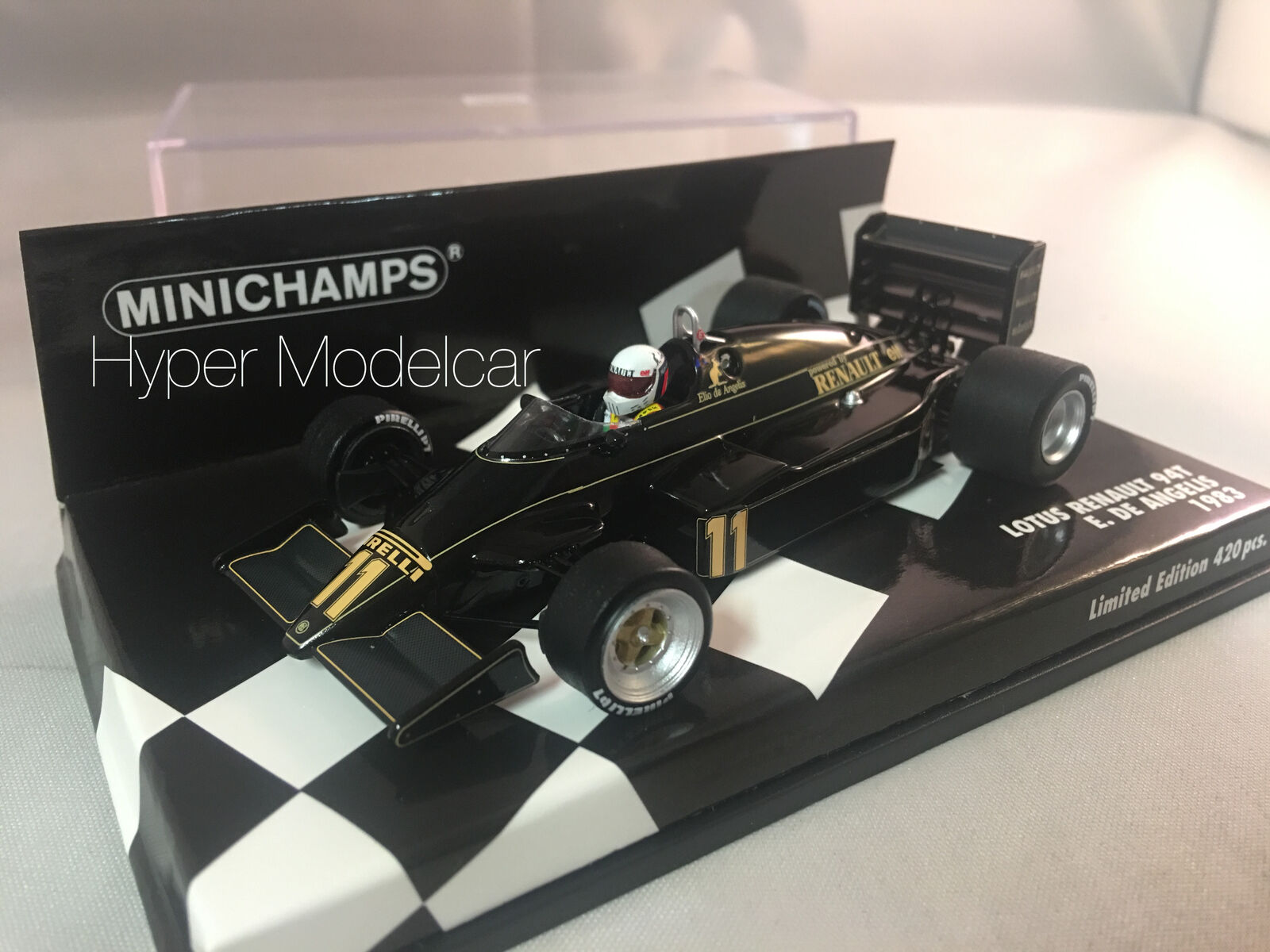 Minichamps 1 43 f1 Lotus 94t renault Season 1983 E. De Angelis art.417830011