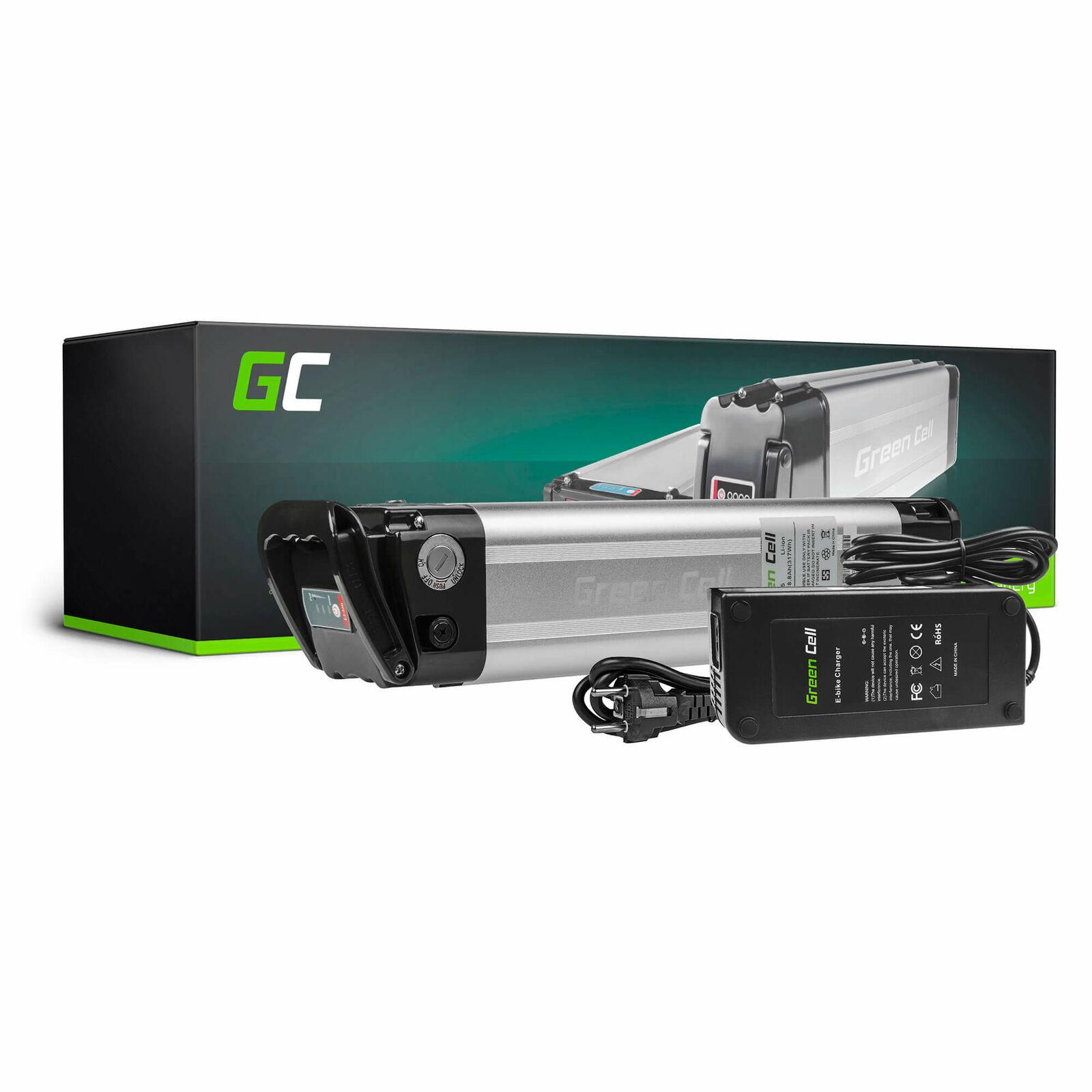 GC® E-BIKE Fahrrad Akku 36V 8.8Ah 317Wh Pedelec Silberfish mit Ladegerät