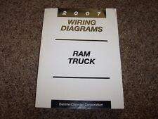 2007 Dodge Ram Truck 2500 Electrical Wiring Diagrams Manual ST SLT Diesel & Gas