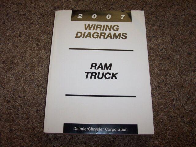 2007 Dodge Ram Truck 2500 Electrical Wiring Diagrams Manual St Slt Diesel  U0026 Gas