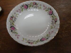 Vintage-Regency-Rose-Fine-China-By-Creative-2345-Berry-Fruit-Bowls-Set-of-6