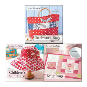 Details About Love To Sew Mug Rugs Children S Sun Hats Collection 3 Books Set