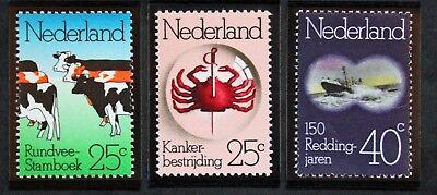cyn28 Yvert Und Tellier Nr.1003 à 1005 N Modestil Briefmarke Niederlande