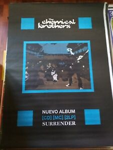 CHEMICAL-BROTHERS-SURRENDER-SPANISH-BIG-PROMO-POSTER-100cm-X-140cm-RARO