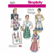 Simplicity Sewing Pattern 1221 Misses Retro/vintage Style 1940s Aprons
