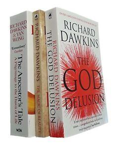 Richard-Dawkins-3-Books-God-Delusion-Magic-of-Reality-Ancestor-039-s-Tale-New