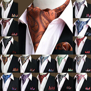 Hot-Sale-Mens-Stylish-Paisley-Cravat-Handkerchief-Scarf-Ascot-Pocket-Square-Set