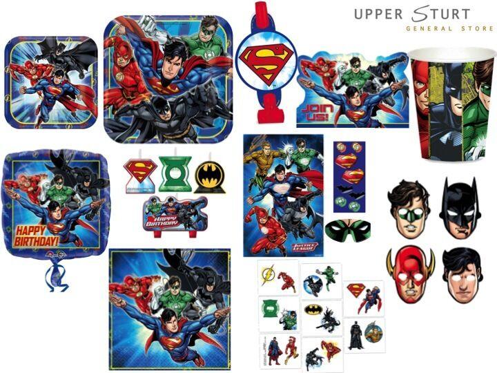 Justice League MEGA Party Pack 8 Person Superhero Party Supplies