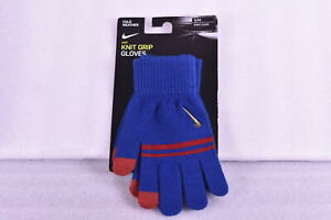 Women-039-s-Nike-Ya-Stripe-Knitted-Tech-and-Grip-Gloves-Navy-Red-Small-Medium