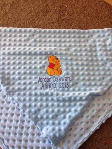 Personalized Winnie the Pooh Infant Baby Soft Minky Fleece Blanket