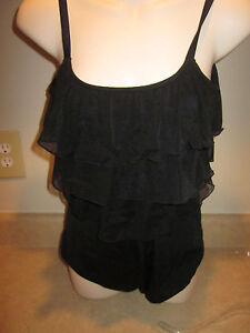 GREAT LENGTHS Womans Size 10  Tummy Control Black baithing suit MSRP 68.00 NEW