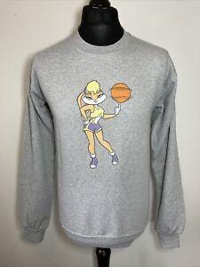 Warner Bros Looney Tunes Lola Bunny Basketball Women's Grey Sweatshirt Size 8-10
