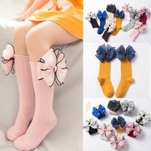 Fashion Soft Leg Warmers  Cotton High Knee Sock Big Bow Long Socks Baby Sock