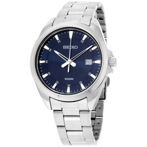 Seiko Blue Dial Stainless Steel Men's Watch SUR207