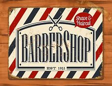 "TIN-UPS TIN Sign ""Barber Shop"" Vintage Ad Garage Retro Hair Beautician"
