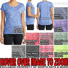 a3aeccfa04344 item 3 Ladies Heather T-Shirt Moisture Wicking Tee Yoga Running Womens  XS-XL 2X