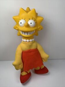Vintage-Lisa-Simpson-Burger-King-The-Simpsons-Cartoon-1990-Plush-Doll-8-034-Toy