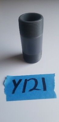 "PVC Nipple MNPT 1-1//4/"" X 2/"" Nipple MPT NPT SCH80 PVCI Thread//Thread PVC Pipe"