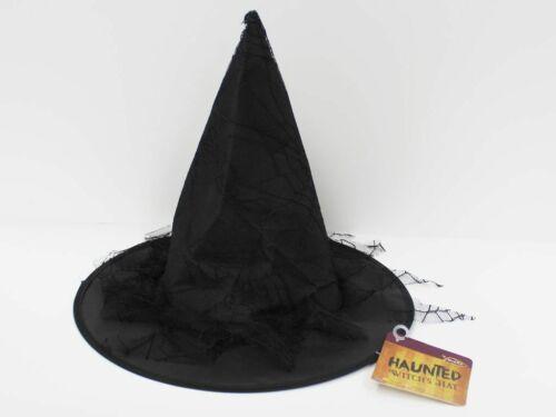 Black Witches Witch Halloween Children Adult Hat Fancy Dress Costume Accessory