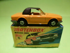 MATCHBOX LESNEY 6 MERCEDES BENZ 350 SL - RARE SELTEN - MINT CONDITION IN BOX