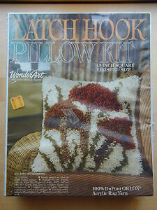 Image Is Loading Wonderart Latch Hook Pillow Kit 4634 Mushrooms 15