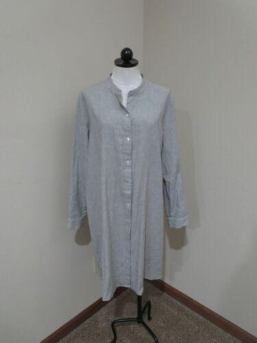 Eileen Fisher striped Tunic Shirtdress Organic Cot