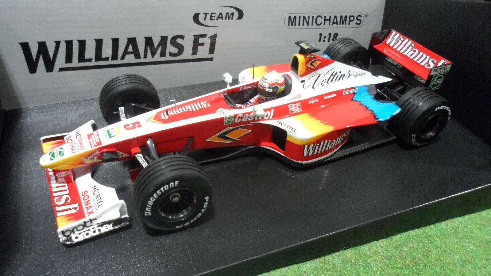 hermoso F1 WILLIAMS FW21 ZANARDI 1999 súperTEC 1 18 MINICHAMPS 180990005 180990005 180990005 miniature  en promociones de estadios