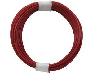 (1m = 23,9 ct) Decoderlitze Hochflexible 0,04 mm²   10m Ring  ROT  > NEU